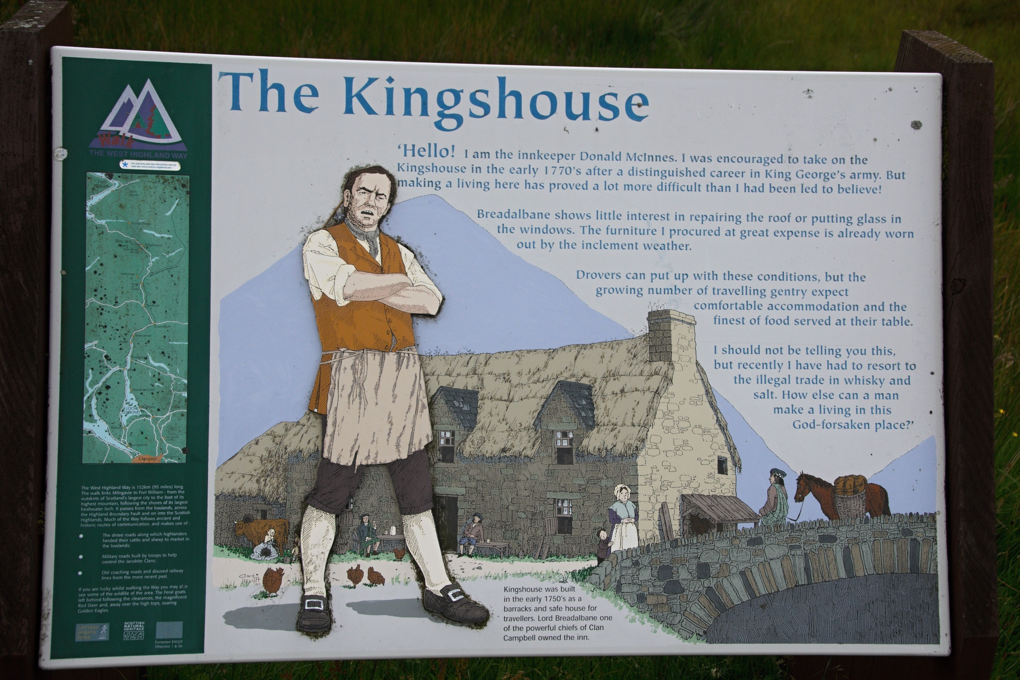Informační cedule o Kingshouse