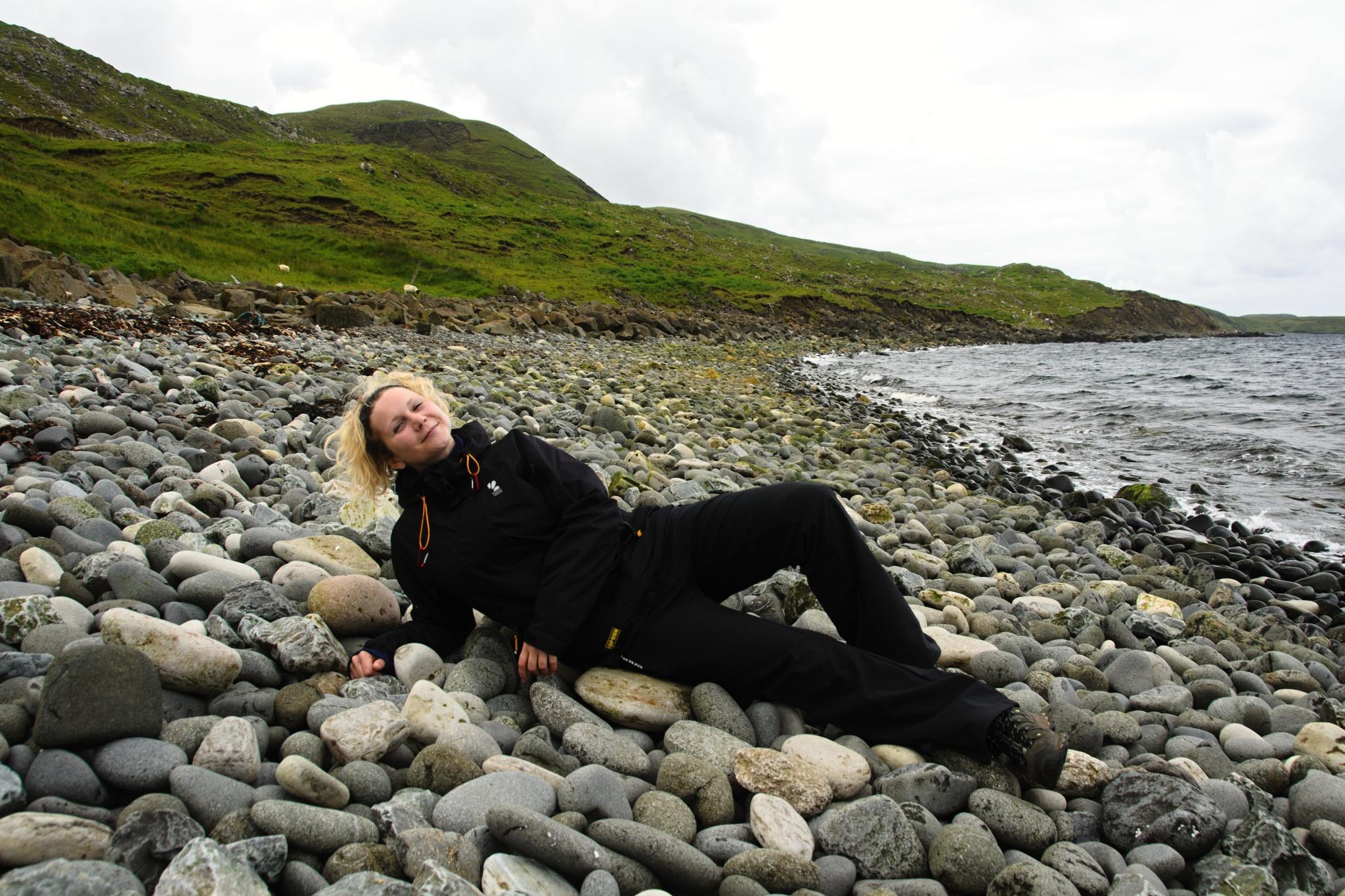 Modelka na pláži ;)