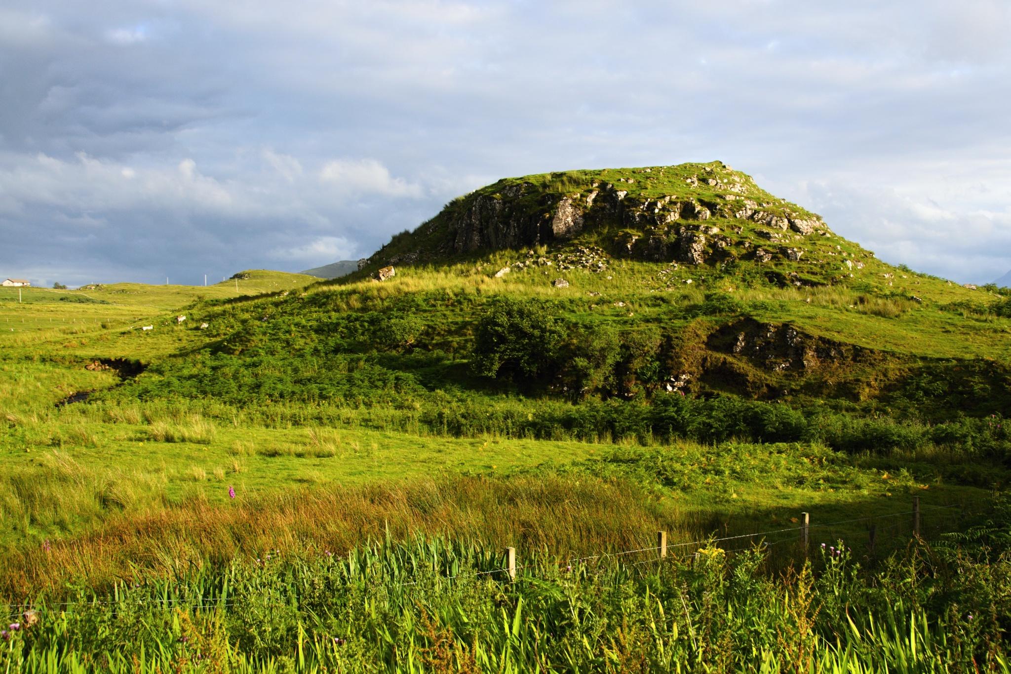 Skotská příroda za slunečného počasí