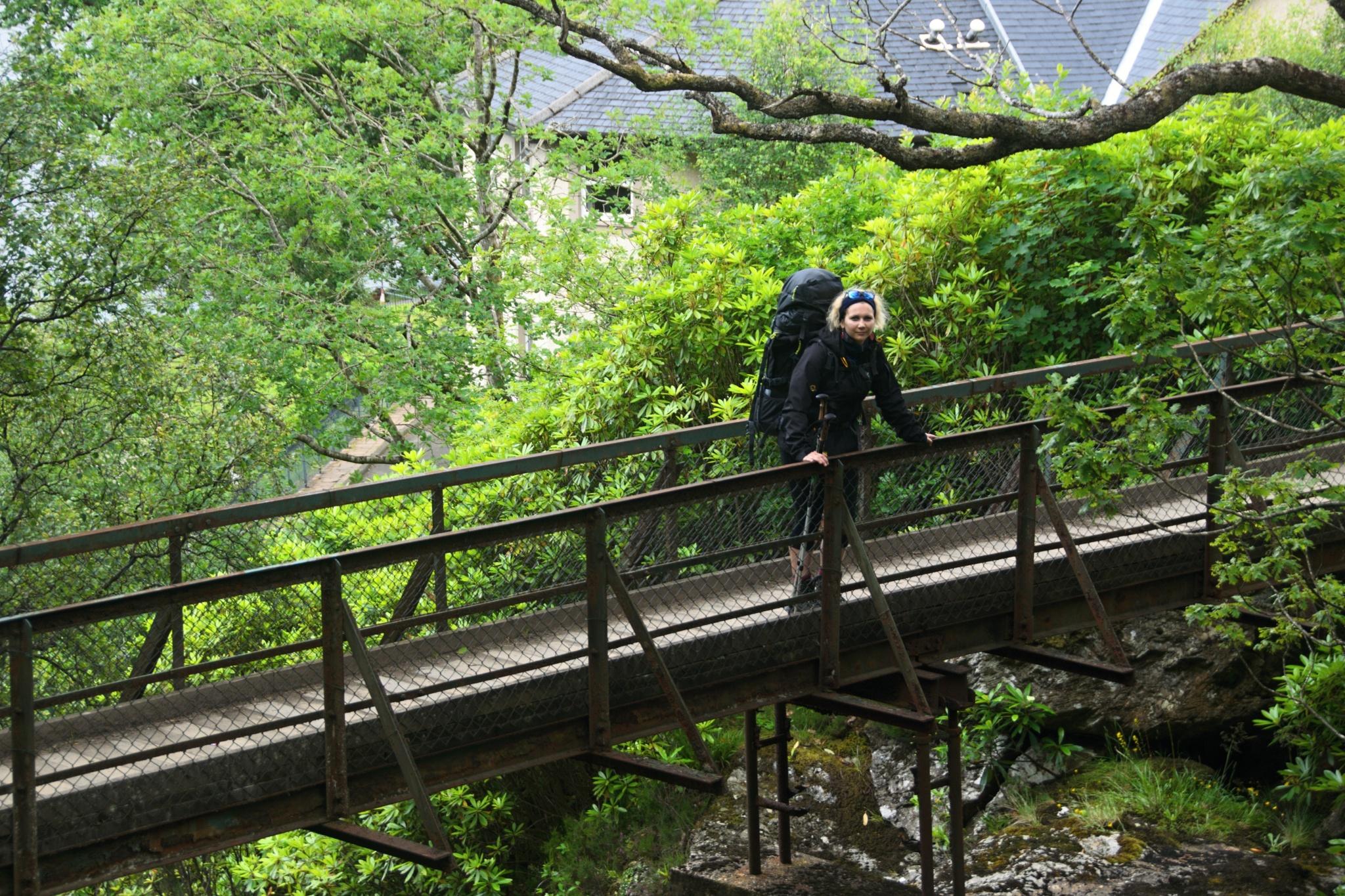 Most přes potok Arklet Water