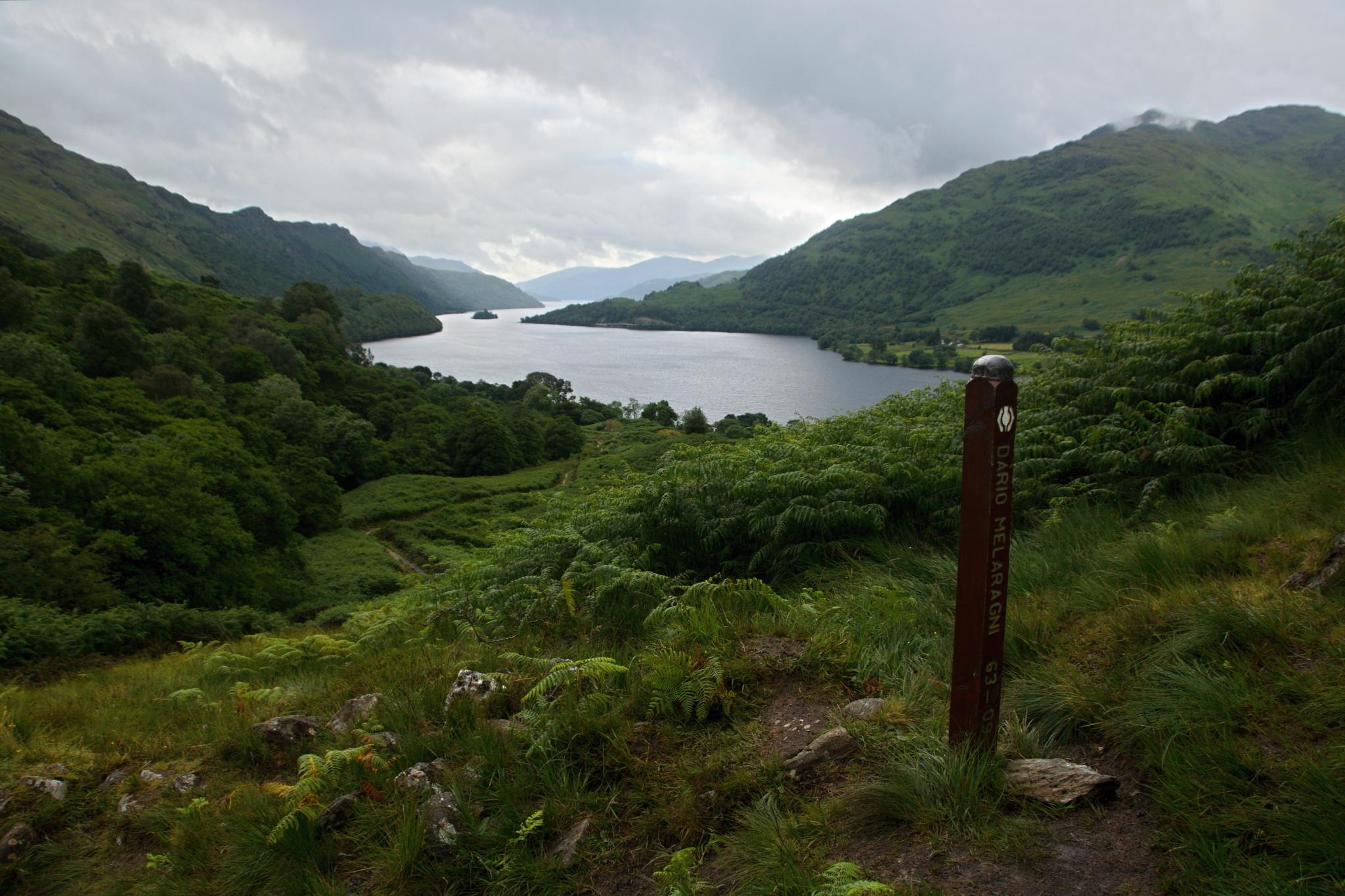 Rozloučení s jezerem Loch Lomond
