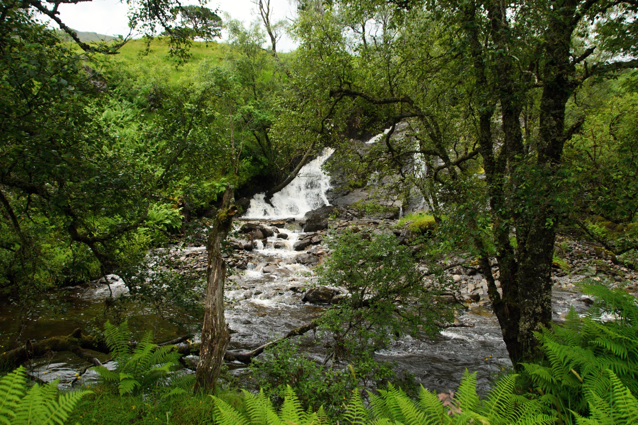 Malé vodopády na řece Falloch