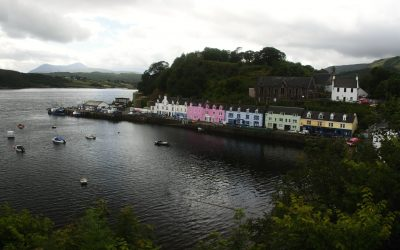 Prohlídka městečka Portree (Isle of Skye den 1.)
