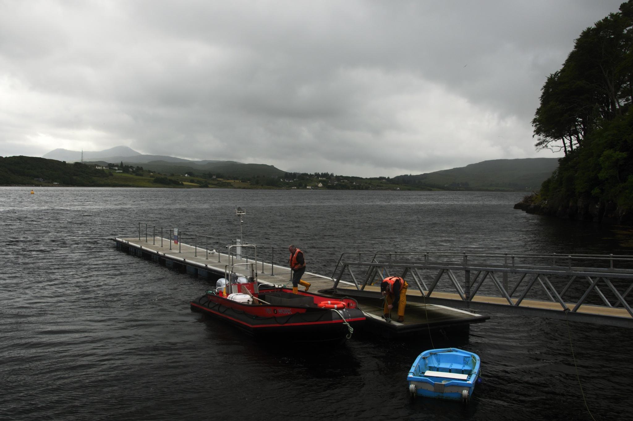 Rybáři v přístavu