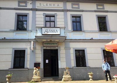 Hotel Slánka, kontrolní bod v Černošicích