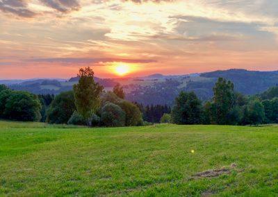 Kouzelný západ slunce