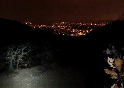 Výhled na noční Zbraslav