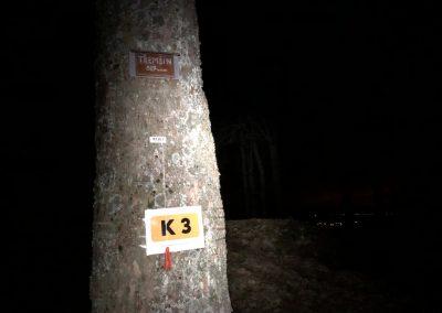 K3 přímo na vrcholku Třemšína