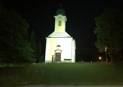 Kaple sv. Václava při čekání na taxík