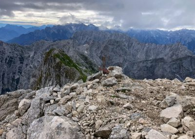 Rozcestník pod vrcholkem Mangartu
